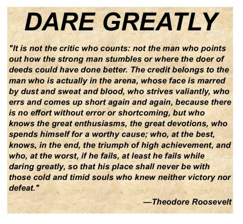 DARE GREATLY TEXT PHOTO