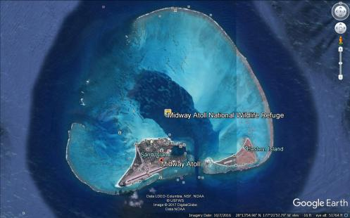 midway atoll wide view