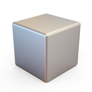 3d illustration of metal cube