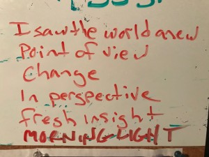 white board poem